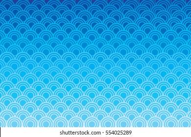 Blue circle wave patter
