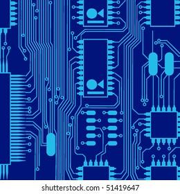 blue circuit board pattern