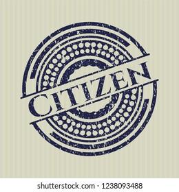 Blue Citizen grunge seal
