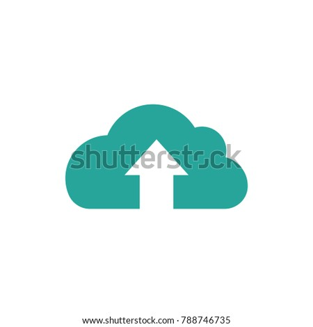 blue cloud arrow icon isolated on stock vector royalty free