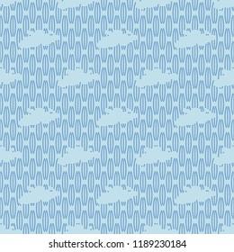 Blue clouds seamless patterns