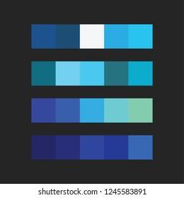 Blue color palette vector illustration