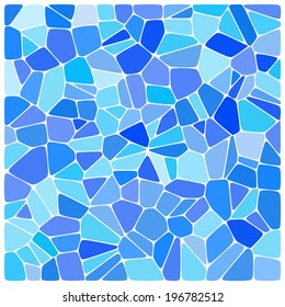 Blue colorful mosaic pattern. Vector background.