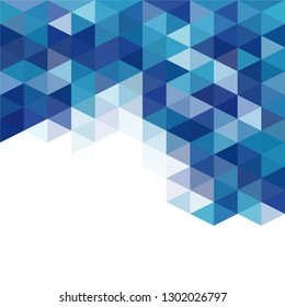 Blue colors abstract triangular grid pattern