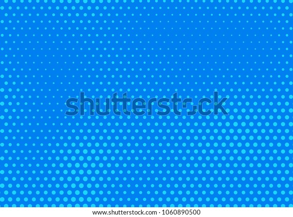 Blue comic pop-art halftone background vector