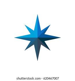 Blue Compass Logo Template