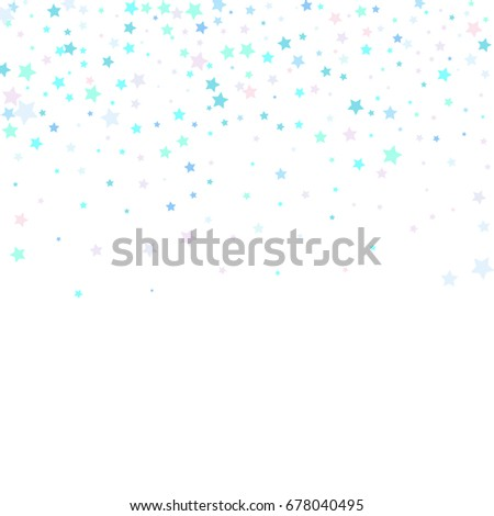 Blue Confetti stars. Scatter top gradient on white background made of blue  confetti stars. 78090a76b