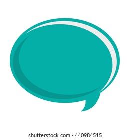 blue conversation bubble