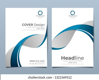 Blue corporate identity cover business vector design, Flyer brochure advertising abstract background, Leaflet Modern poster magazine layout template, Annual report for presentation.