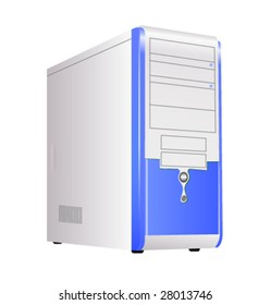 Blue corps of computer. Vector.