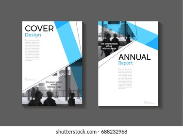 blue cover abstract modern art cover book Brochure template, design, annual report, magazine and flyer layout Vector a4