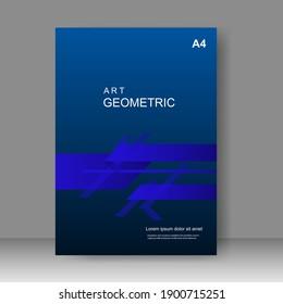 Blue cover design modern. Annual report. Brochure template, Poster, catalog. Simple Flyer promotion. magazine. Vector illustration