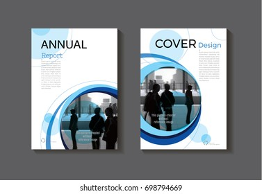 blue cover design modern book cover abstract Brochure cover  template,annual report, magazine and flyer layout Vector a4