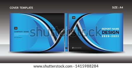 Blue Cover Design Template Magazine Ads Stock Vector