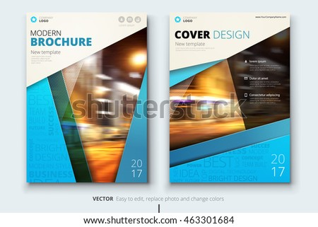blue creative brochure layout design corporate stock vector royalty