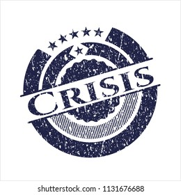 Blue Crisis rubber stamp