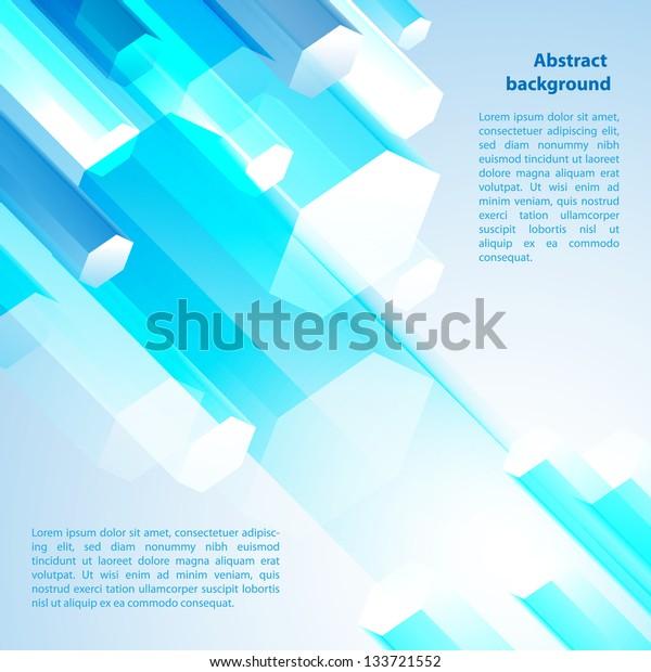 Blue cristal. Vector illustration for your business presentation