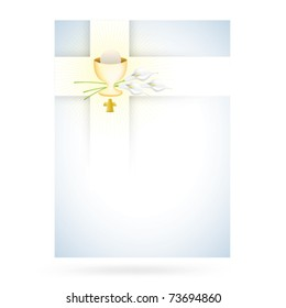Blue cross design for first communion