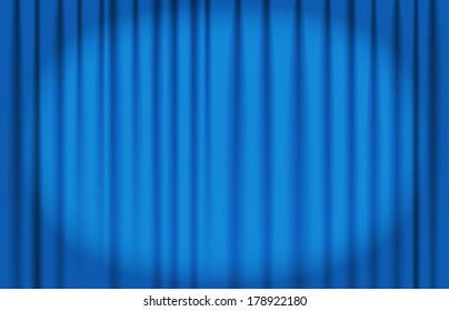 blue curtain vector with spot light
