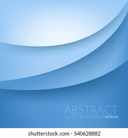 Blue curve vector background overlap layer with space for text and message design