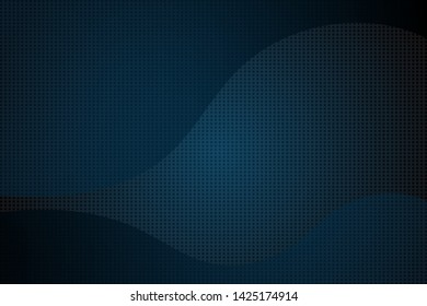 Blue dark background in abstract style with curves gradient and halftone.  profesional design for your web, poster, banner, screen, backdrop. Simple template is cool and elegant. Easy to use in eps.10
