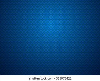 Blue dark pattern background vintage vector