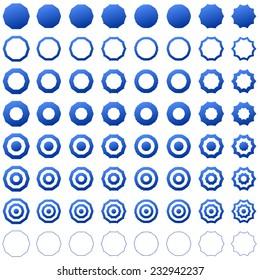 Blue decagon set