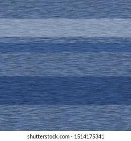 Blue denim marl stripe seamless pattern. Jeans texture fabric textile. Vector gradient cotton melange t shirt all over print.