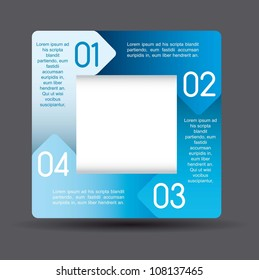blue design of advertisement numbers. vector illustration
