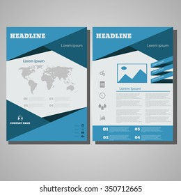 brochure design layout template size a 4 stock vector royalty free
