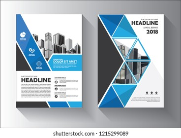 blue design template for background cover, layout, brochure, magazine, catalog, and flyer