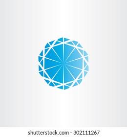 blue diamond vector icon logo design