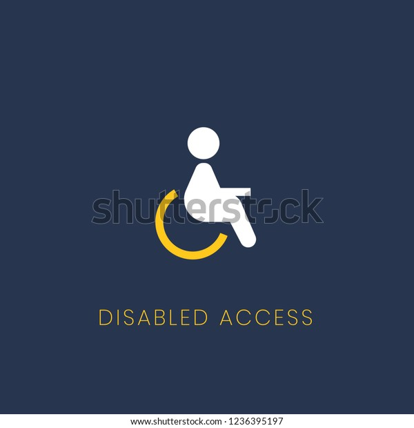 Blue Disabled Access Icon Sign Vector Stock Vector (Royalty