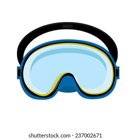 Blue diving mask, diving mask, mask isolated, diving equipment