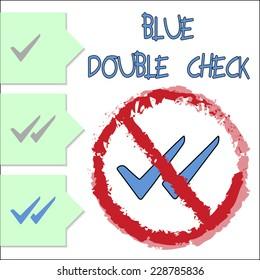 Blue Double Check
