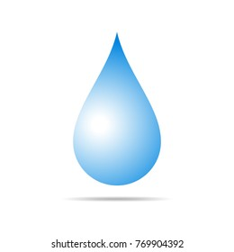 Blue drop icon. Vector illustration. Drop icon isolated on light background.