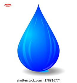 blue drop isolated on white background vector