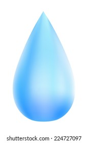 Blue drops isolated on white background. Eco. Vector illustration.