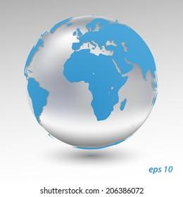 Blue Earth. 3d vector model