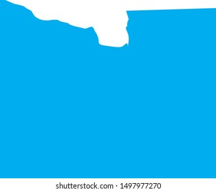 Blue earth county map in state of minnesota