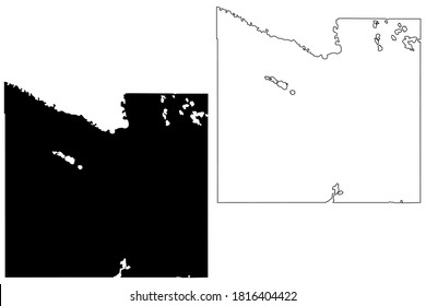 Blue Earth County,  Minnesota (U.S. county, United States of America, USA, U.S., US) map vector illustration, scribble sketch Blue Earth map