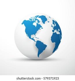 blue earth globe america