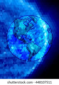 Blue Earth on triangle pattern