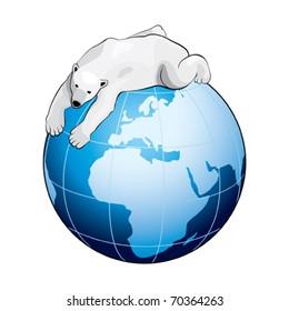 Blue Earth with Polar Bear