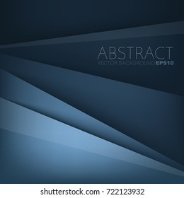 Blue earth tone vector background overlap layer on blue dark space for background design