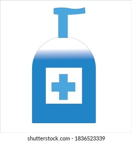 The Blue Elegant Handsnitizer is excellent for use as an image material for health posters. Corona virus flyer material.