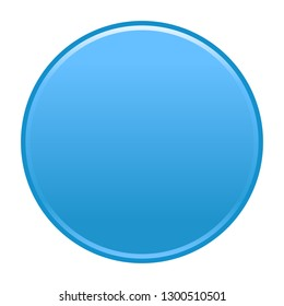 Blue empty round button. Flat icon circle shape isolated on white background. The graphic element for design saved as a vector illustration in the EPS file format.