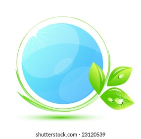 Blue environment icon. Put your symbol into circle