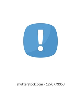 blue exclamation icon