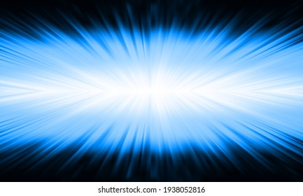 blue explosive  abstract lens flare light over black background